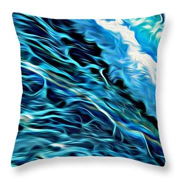 Wave Runner Throw Pillow