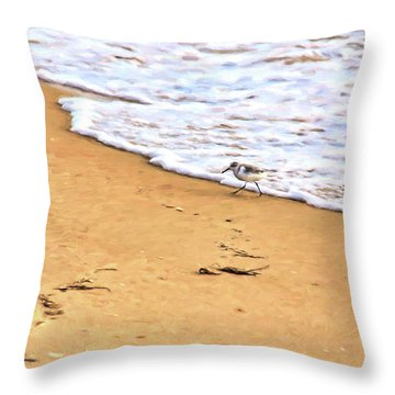 Throw Pillow featuring the photograph Wave Runner by Jan Amiss Photography