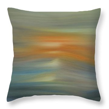 Wave Swept Sunset Throw Pillow by Dan Sproul
