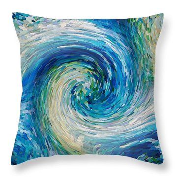 Wave To Van Gogh II Throw Pillow