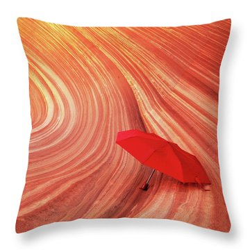 Throw Pillow featuring the photograph Wave Umbrella by Norman Hall