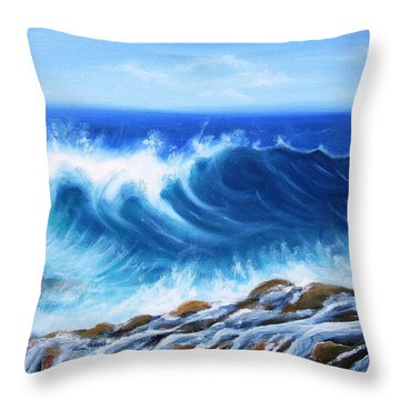Wave Throw Pillow by Vesna Martinjak