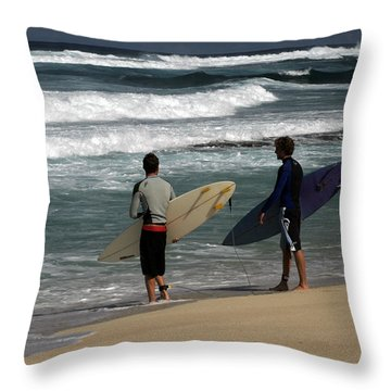 Wave Watch Throw Pillow