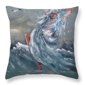 Wave Within Throw Pillow