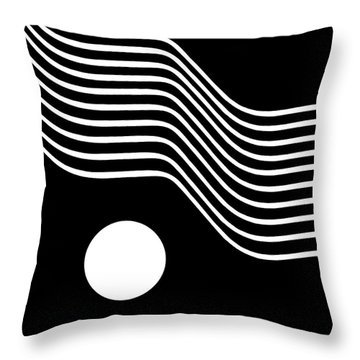 Waved Abstract Throw Pillow