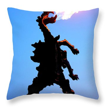 Throw Pillow featuring the photograph Wavel Dragon by Fabrizio Troiani