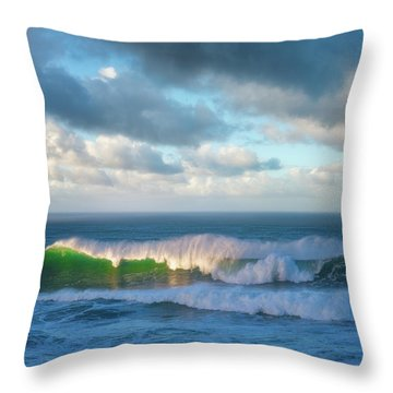 Throw Pillow featuring the photograph Wave Length by Darren White
