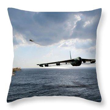 Waverunner Throw Pillow by Peter Chilelli