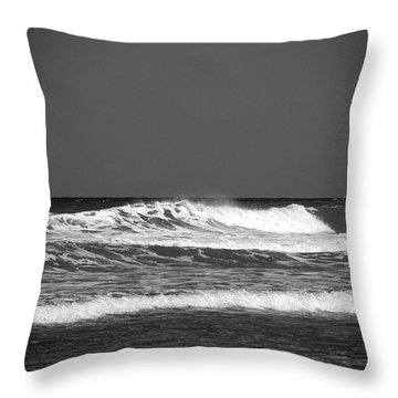 Waves 2 In Bw Throw Pillow