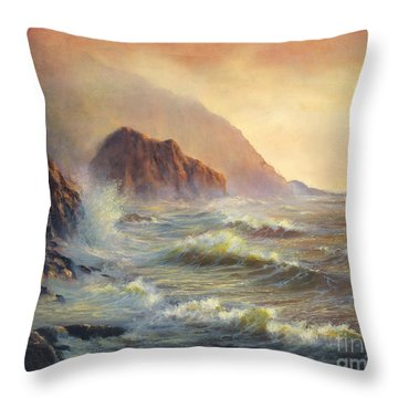 Waves After The Storm Throw Pillow