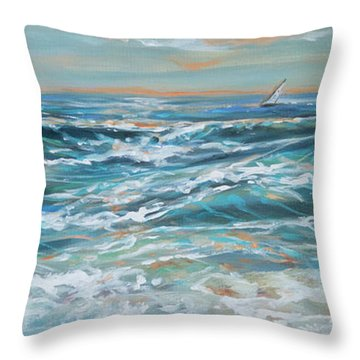 Waves And Wind Throw Pillow