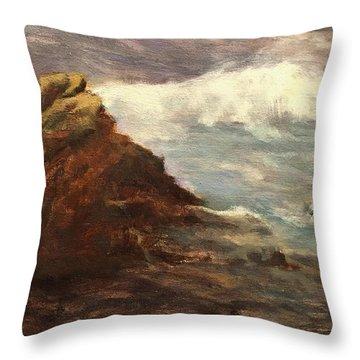 Waves At Dusk Throw Pillow