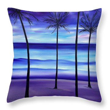 Waves At Twilight Throw Pillow