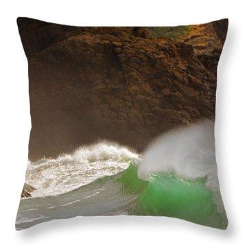 Waves At Waikiki Throw Pillow