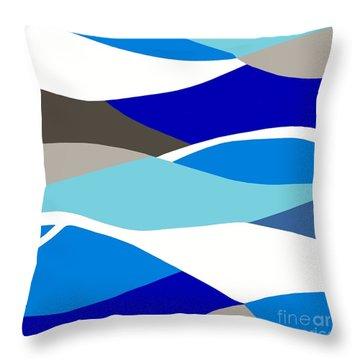 Waves Throw Pillow by Eloise Schneider