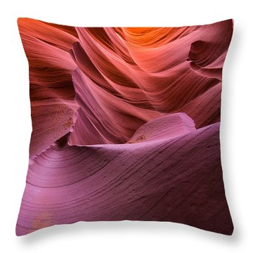 Waves-lower Antelope Canyon Throw Pillow