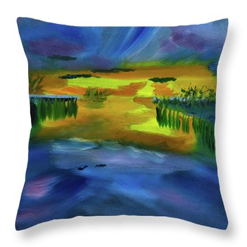 Waves Of Change Throw Pillow by Meryl Goudey