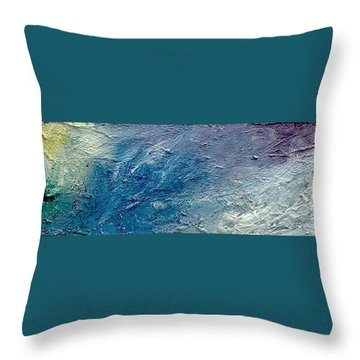 Waves Of Color Throw Pillow by Gallery Messina