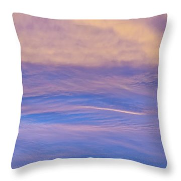 Waves Of Color Throw Pillow