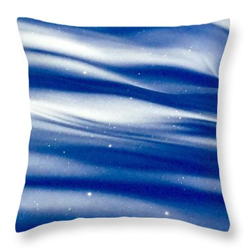 Waves Of Diamonds Throw Pillow
