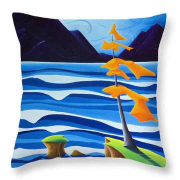 Waves Of Emotion Throw Pillow by Richard Hoedl