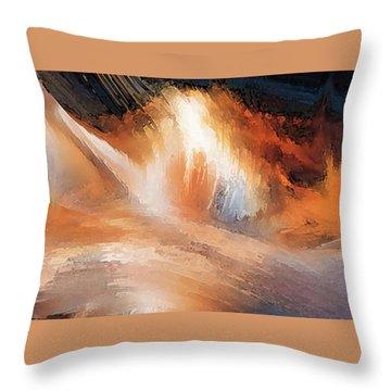 Waves Of Light Throw Pillow