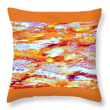 Waves Of Light Throw Pillow