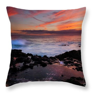 Waves Of Paradise Throw Pillow by Mike  Dawson