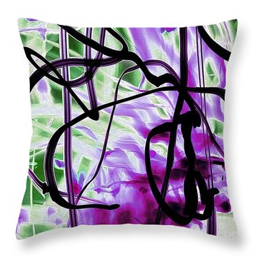 Waves Of Purple Throw Pillow