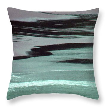 Waves On The Beach Throw Pillow by Methune Hively