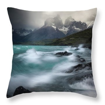 Waves On Waves Throw Pillow