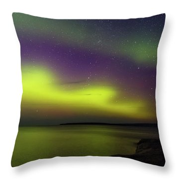 Throw Pillow featuring the photograph Waves Over Paradise by Heather Kenward