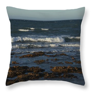Waves Rolling Ashore Throw Pillow