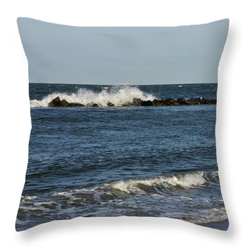 Throw Pillow featuring the photograph Waves by Sandy Keeton