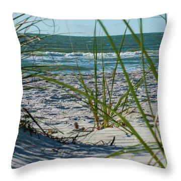 Waves Through The Grass Throw Pillow