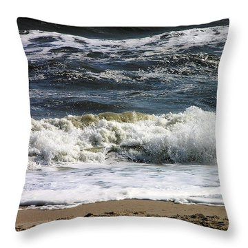 Waves, Waves, Waves Throw Pillow