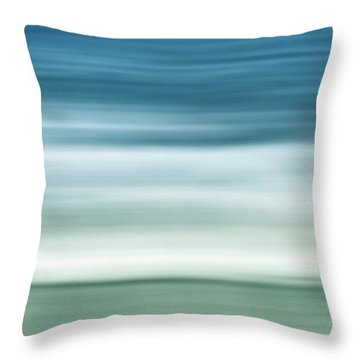 Waves Throw Pillow by Wim Lanclus