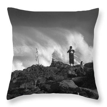 Wavewatchers Throw Pillow