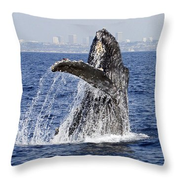 Waving  Throw Pillow by Shoal Hollingsworth