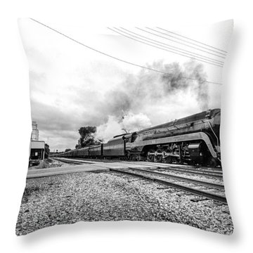 Waving To The 611 In Bedford Va Throw Pillow by Alan Raasch