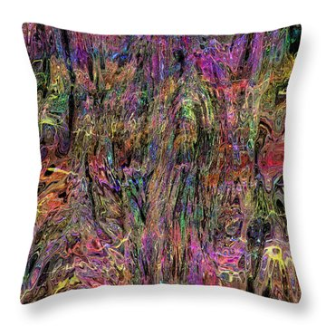 Wavy 032015 Throw Pillow