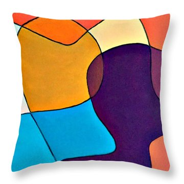 Wavy Hair Throw Pillow by Shelley Graham Turner