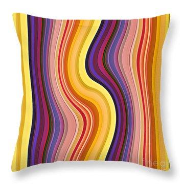 Wavy Stripes 1 Throw Pillow
