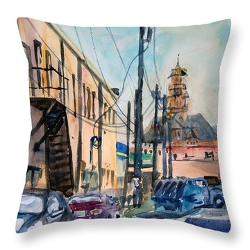 Waxahachie Back Alley Throw Pillow