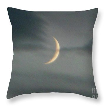 Waxing Crescent Moon Throw Pillow