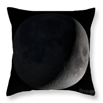 Waxing Crescent Moon Throw Pillow by Stocktrek Images
