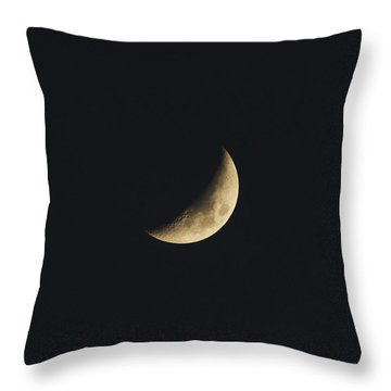 Waxing Crescent Spring 2017 Throw Pillow