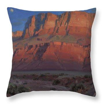 Waxing Moon Throw Pillow