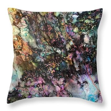 Way Down She Goes Throw Pillow