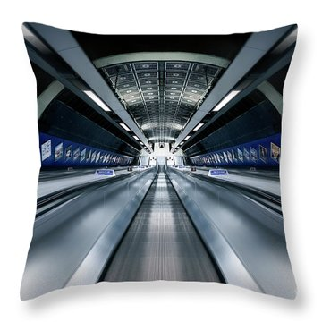 Way Down We Go Throw Pillow